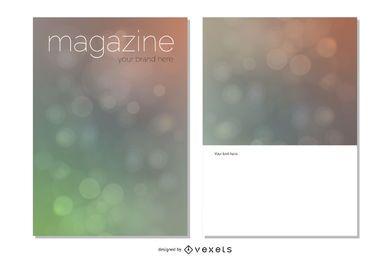 Magazine Bokeh Cover Design
