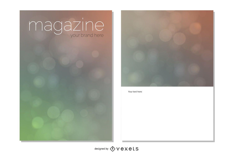 Diseño de portada de revista Bokeh