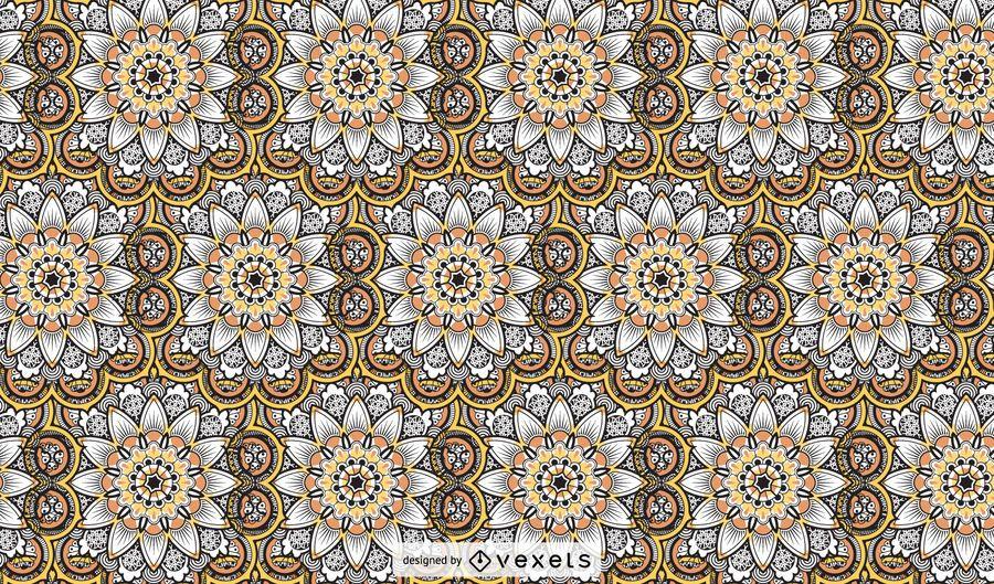 Hand drawn mandala pattern