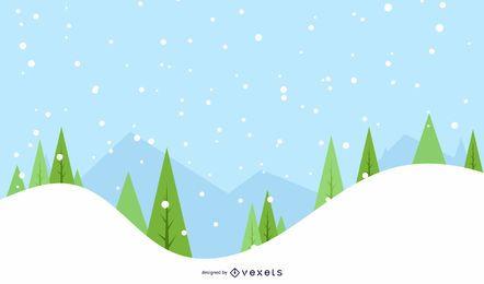 Fundo de árvores de inverno