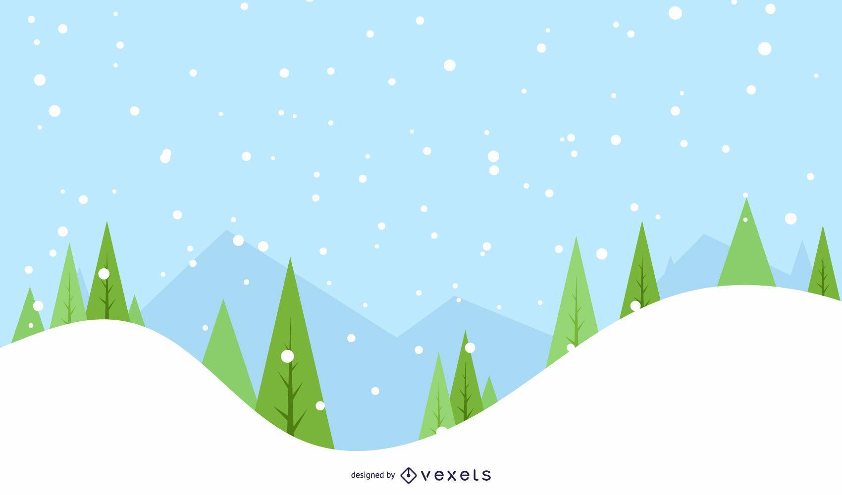 Fondo de árboles de invierno