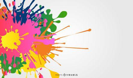 Salpicaduras de tinta de colores