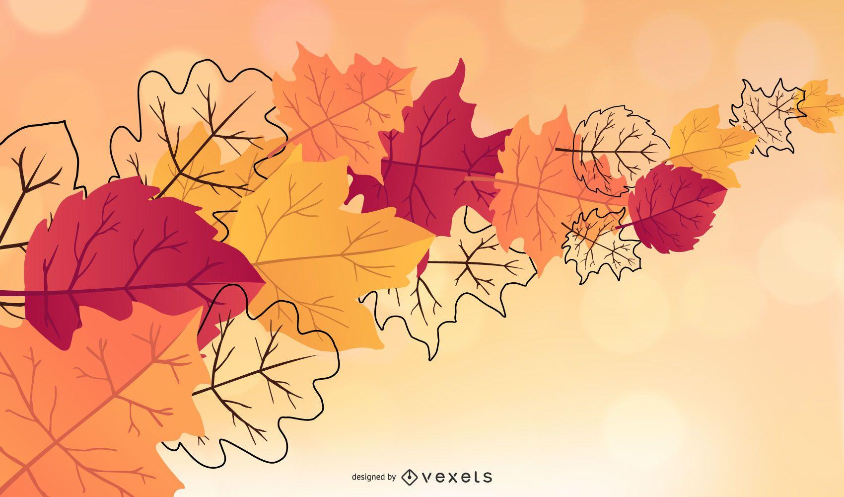 Fall Leaves Wallpaper Design