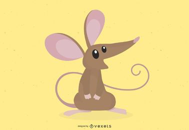 Mouse looking up illustration