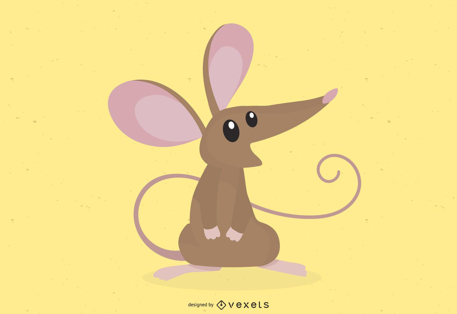 Brown Mouse Cute Cartoon
