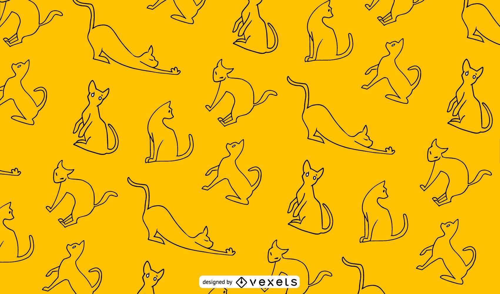 Cat Outline Pattern Design