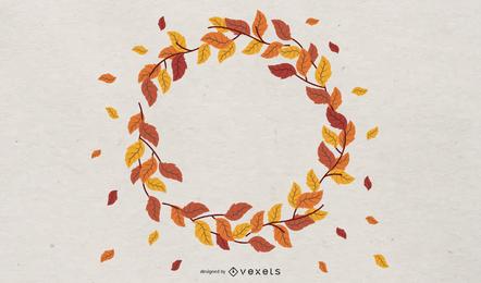 Fundo de design de moldura outono