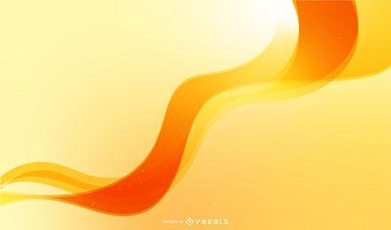 Design de pano de fundo abstrato com onda laranja
