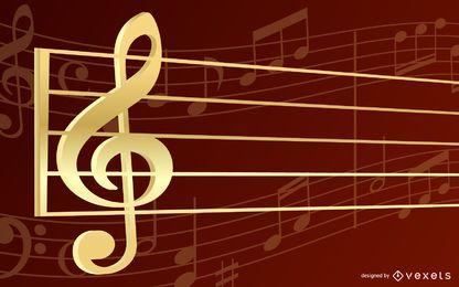Diseño musical de Key of G