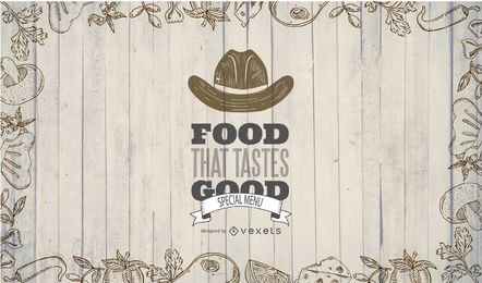 Diseño de banner de comida de restaurante occidental