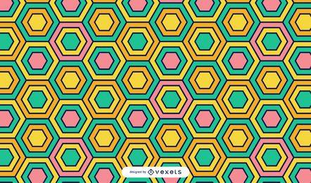 Fondo colorido de hexágonos