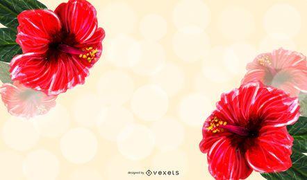 Hibiscus Illustration Background Design