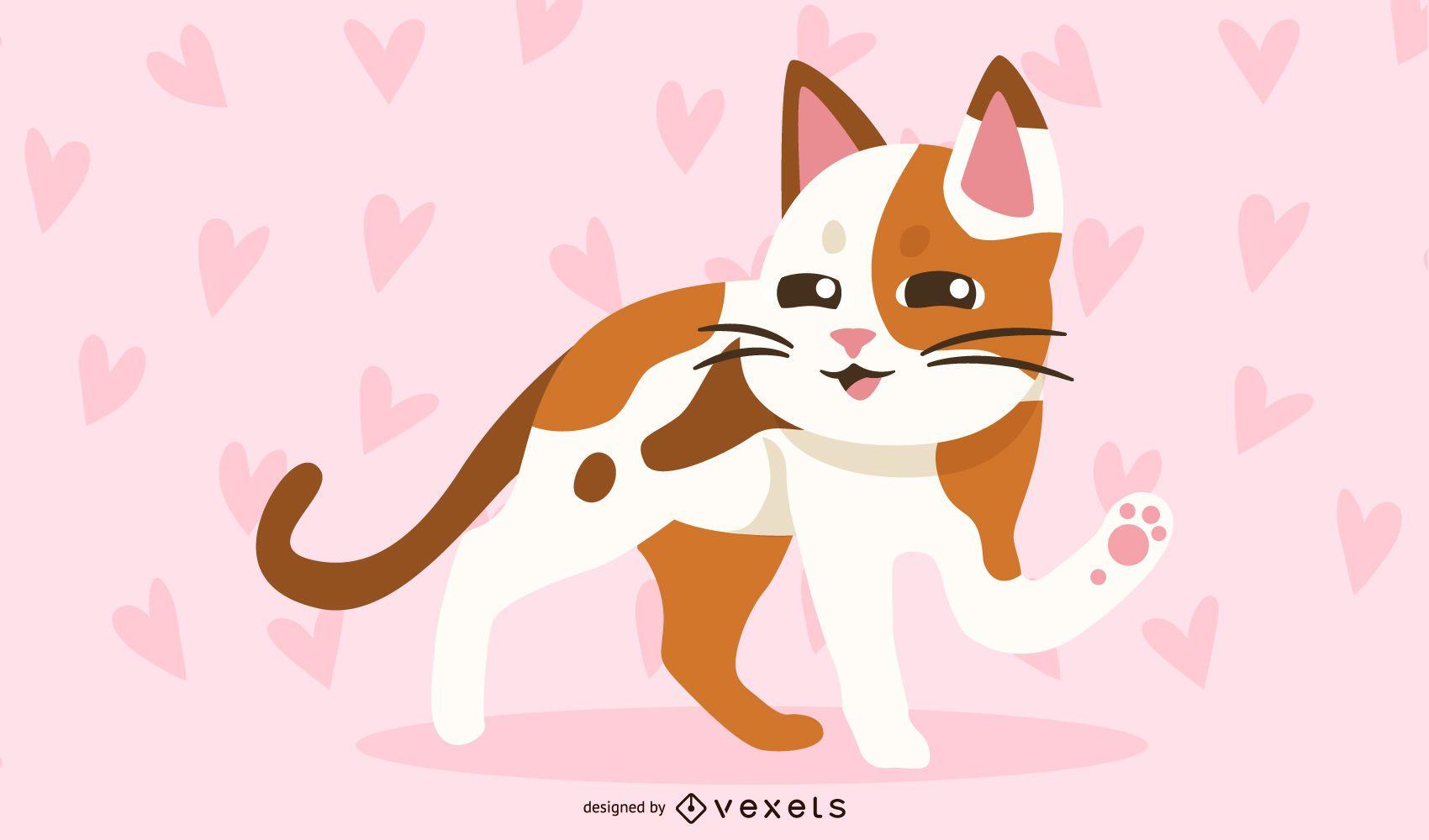 Lindo gato amor fondo de pantalla