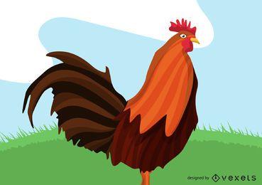 rooster animal illustration design