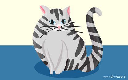 Diseño de ilustración de gato mascota