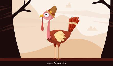 ilustración de animal de pavo de acción de gracias