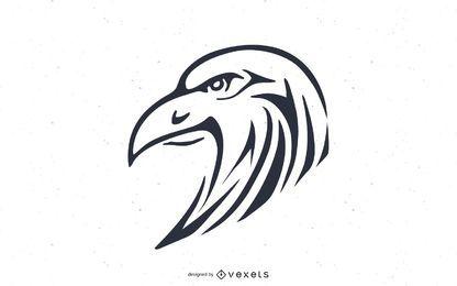 Diseño de cabeza de águila calva