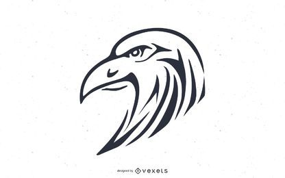 Eagle pinstripe illustration