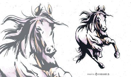 Vetor de cavalo 05