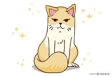 Vector de gato animal