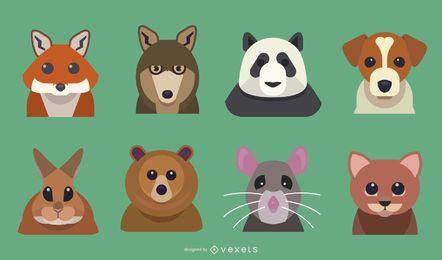 Animal bonito dos desenhos animados