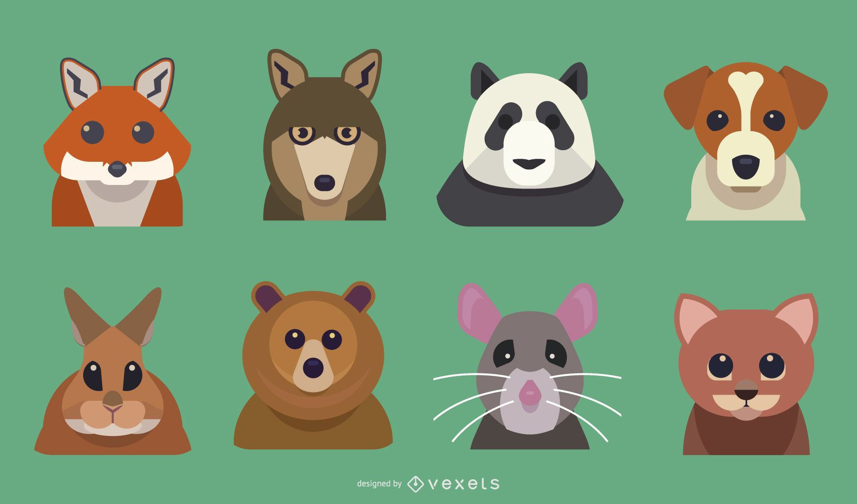 Flat Animal Cartoon Pack