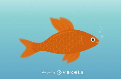 Clipart de peixinho dourado