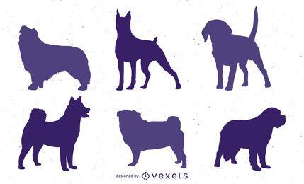 Siluetas de perro