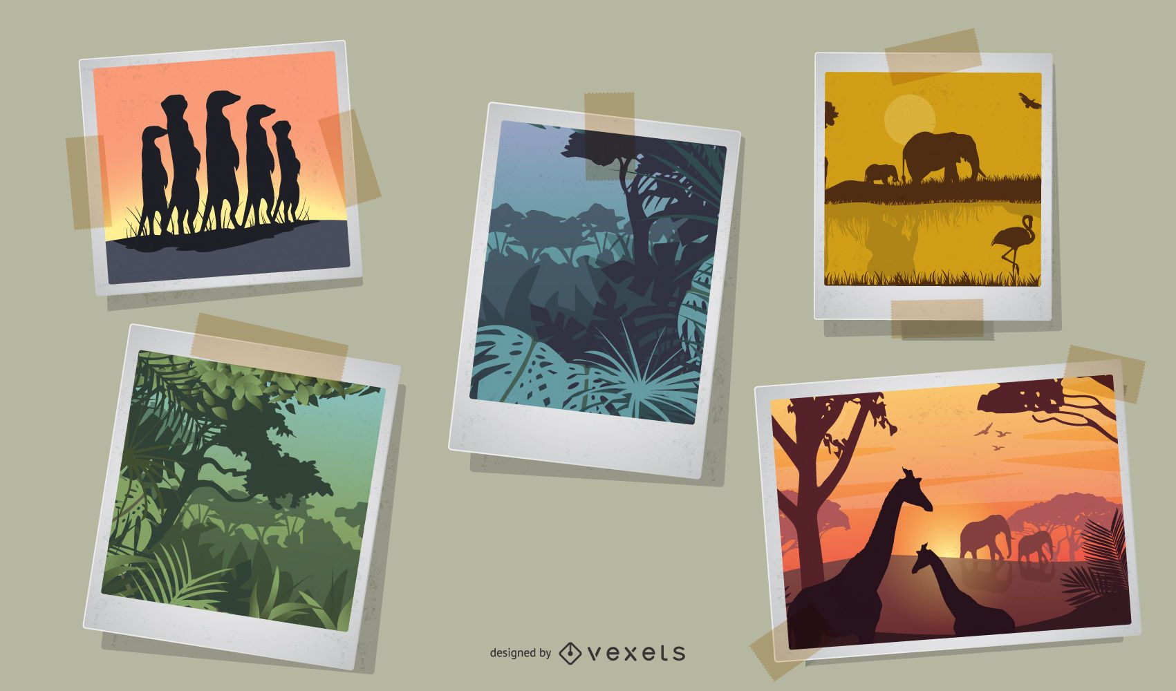 Vector de safari africano