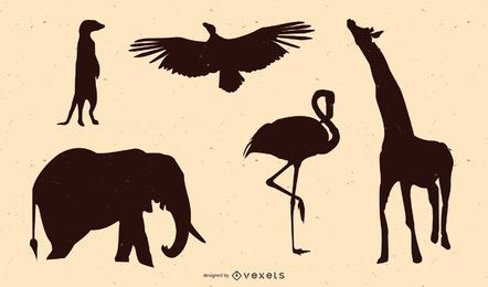Afrikanische tier silhouette