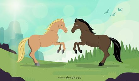 Pferd 04 Vektor