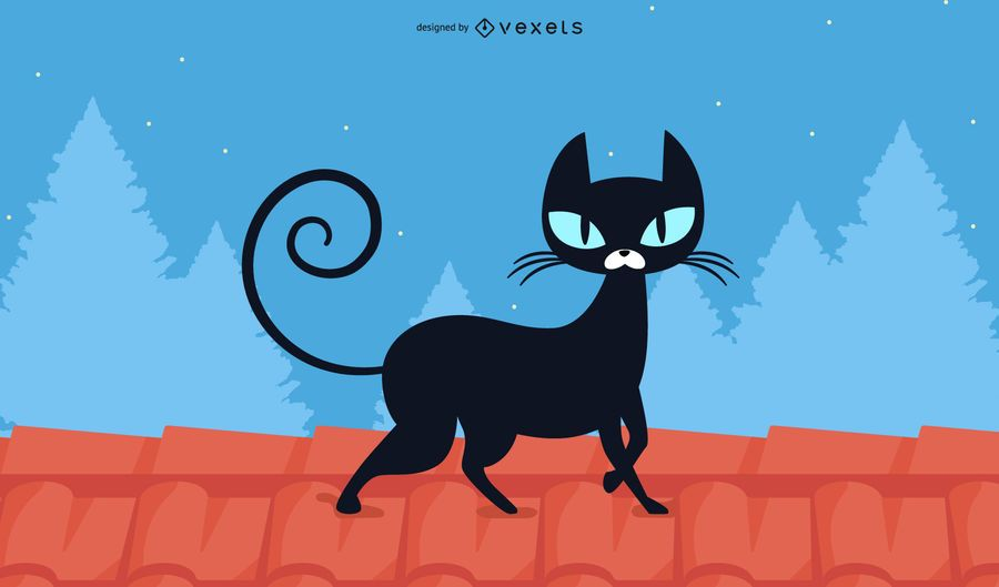 Black Cat Wallpaper Design