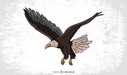 Dibujo de dibujos animados de águila calva