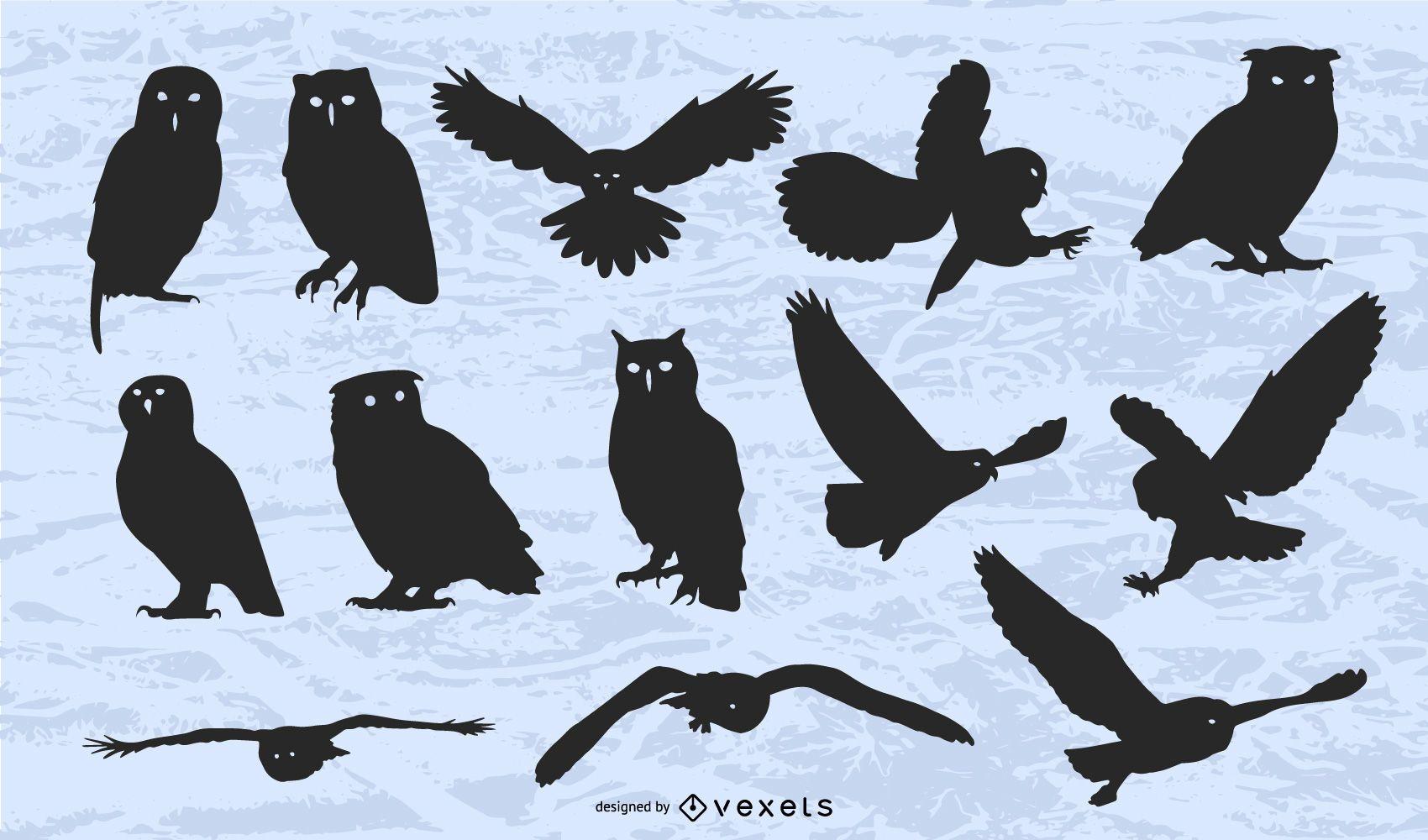 Vector Owl Silhouette