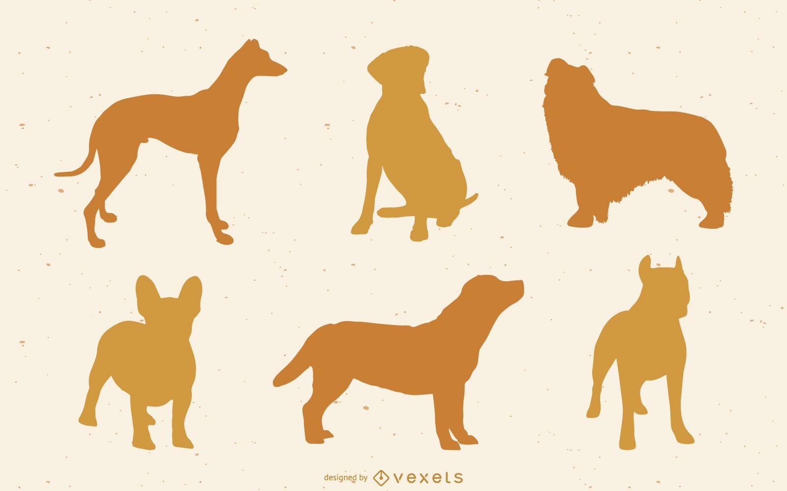 Hund Silhouette Vektor Pack