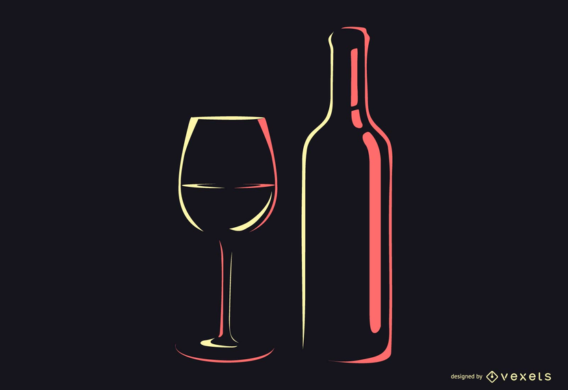 Wine Bottles Silhouettes