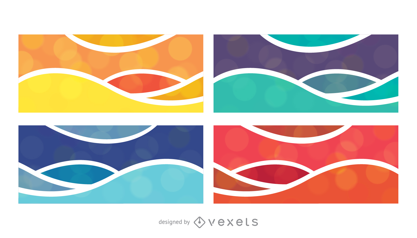 colorful banner banner04 vector download