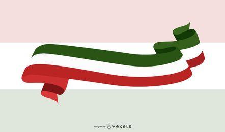 Vector bandeira italiana