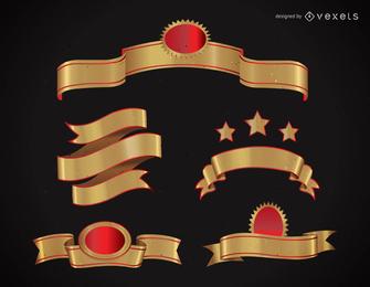 Banner de oro vector