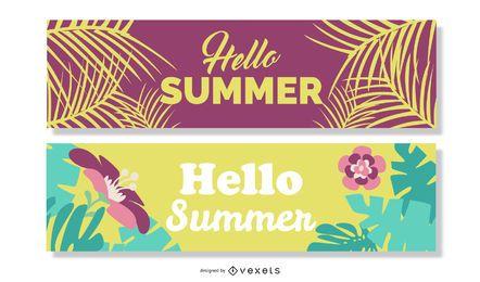 Sommer Banner Vektor