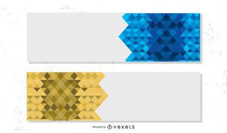 Vector de Banners de colores