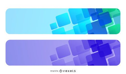 Conjunto de faixa de quadros poligonais