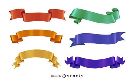 Variedad de vectores de banner