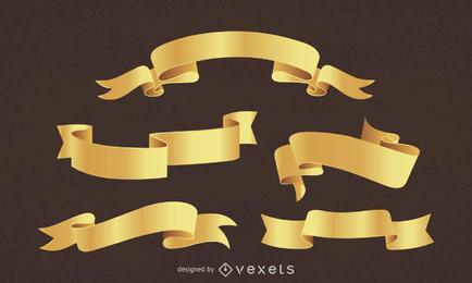 Vector de Banners dorados
