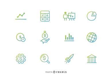 Iconos de inversión financiera
