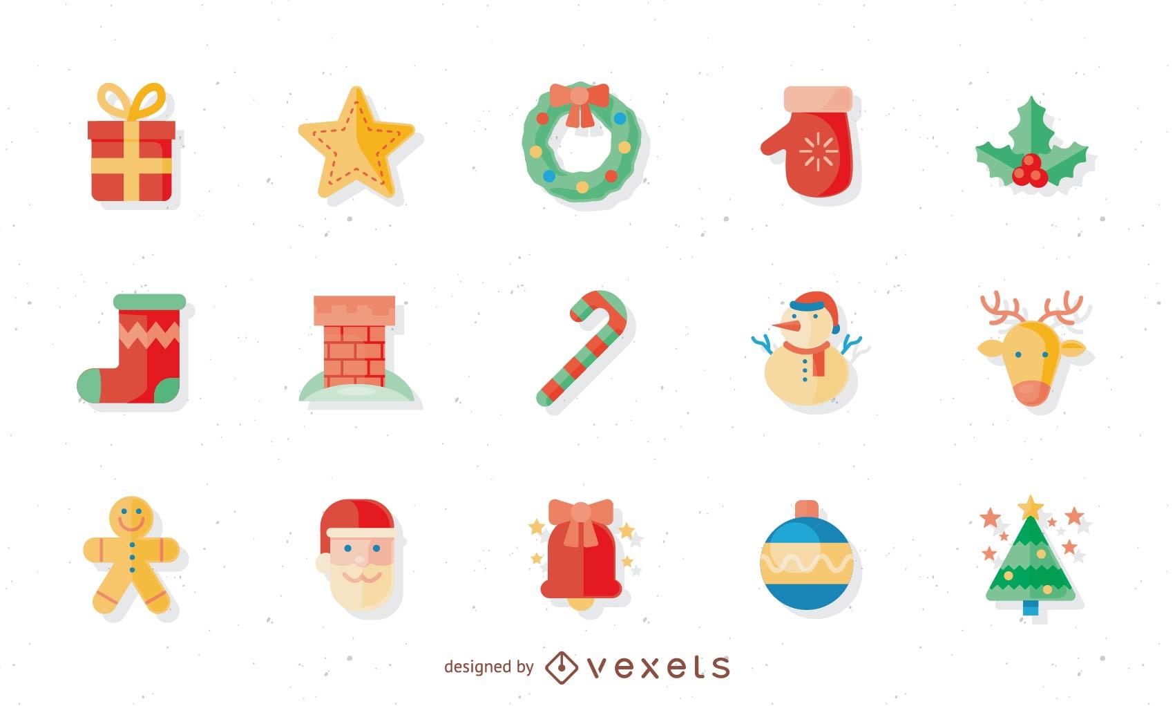 Icono de Navidad de dibujos animados 1