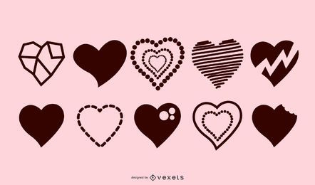 Hearts silhouette collection
