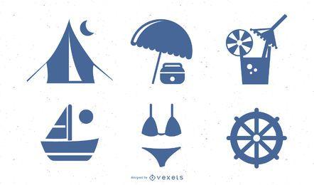 Vector azul verão Vista