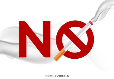 Material de vetor não fumar