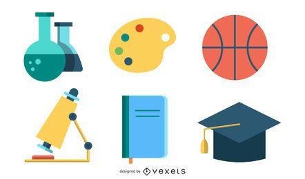 Escuela relacionar el conjunto de iconos